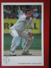 POSTCARD SPORT ANDREW CADDICK ENGLAND INTERNATIONAL CRICKET COLLECTION