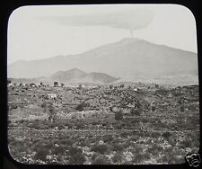 Glass Magic Lantern Slide MOUNT ETNA FROM A DISTANCE C1890 SICILY ITALY VOLCANO
