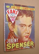 FANS STAR LIBRARY no.20. JEREMY SPENSER. 1959. AMALGAMATED PRESS