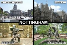 SOUVENIR FRIDGE MAGNET of NOTTINGHAM ENGLAND