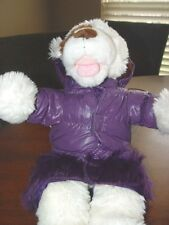 Begood Uptown New Parker Solid Purple Faux Fur Size XS D1