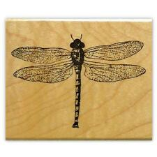 realistic DRAGONFLY Mounted insect rubber stamp #12 bug