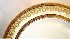 "CH. FIELD HAVILAND LIMOGES GOLD 'INCRUSTATION DOUBLE DORURE' *ARIZONA* 10"" PLATE"