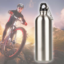 1000ml 1L stainless steel Sports Water Drink Bottle Travel Hiking With Snap Hook