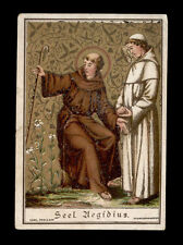 antico santino cromo-holy card B. EGIDIO DI ASSISI poellath