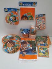 GO DIEGO GO BIRTHDAY PARTY SET  PARTY SUPPLIES -- 11 PACKAGE SET
