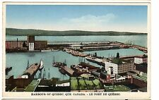 ca.1920 postcard- Harbour of Quebec,  Quebec, Canada.