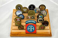 Military Challenge Coin Holder/Display 8x10, 82nd Airborne