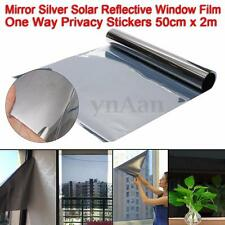 2m X 50cm One Way Mirror Window Film Silver Solar Reflective Privacy Stickers