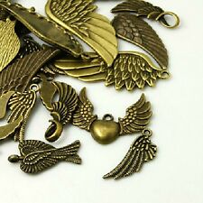 30g x Tibetan Style Bronze Charms / Pendants ~ WINGS ~ Mixed ~ Antique Bronze