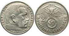 Nazi German Silver 2 Reichsmark-VG Condition- Own a piece of History 17-55