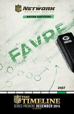 THE TIMELINE MANIFESTO NFL BRETT FAVRE MINNESOTA VIKINGS GREEN BAY PACHERS
