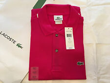 Lacoste Men's Classic Piqué L.12.12 Polo Shirt Mesh $89.50 Bigarreau Cherry 7/XL