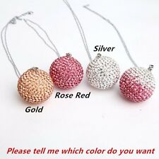 Auto Car Mirror Pendant Crystal Ornament Bling Bling Ball Car Accessories