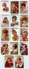 SET OF HAND-MADE DOLLS' HOUSE 1/12TH SCALE ART DECO PHOTOGRAPHS