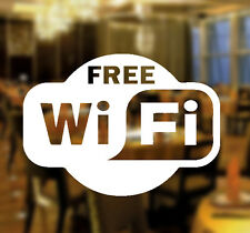 Free WIFI Window Sign Vinyl Sticker Graphics Cafe Shop Salon Bar Restaurant