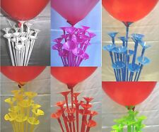 Coloured balloon sticks One piece for air filled latex party balloons Childrens