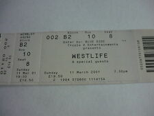 WESTLIFE - 2001 CONCERT TICKET