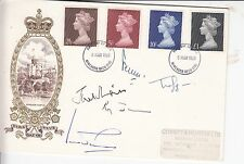 POLITICS MULTI SIGNED FIRST DAY COVER FIVE AUTOGRAPHS