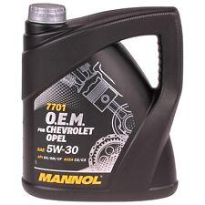 5w30 4l MANNOL 7701 O.E.M. olio motore 5w-30 OPEL CHEVROLET Benzina Diesel GM dexos2