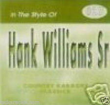 Hank Williams Sr  Karaoke CDG JAMBALAYA Your Cheating Heart YOU WIN AGAIN 16 Sgs
