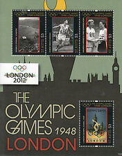 St Kitts 2011 MNH London 2012 Olympic Games 1948 4v M/S Olympics Wembley Stadium