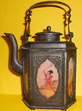 1800's RARE ASIAN ANTIQUE JAPANESE CAST IRON TEAPOT/ TEA KETTLE