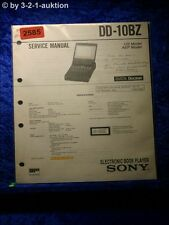 Sony Service Manual DD 10BZ Electronic Book Drive (#2585)