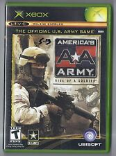 Microsoft xbox Americas Army Rise of a Soldier Game Rare