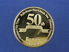 VERY RARE ROLLS ROYCE 50th ANNIVERSARY EAST KILBRIDE 1953 - 2003 GOLD MEDAL COIN