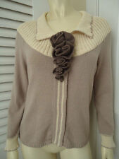 FIELD FLOWER ANTHROPOLOGIE Sweater L (more M) Lavender Cardigan SnapFront RETRO