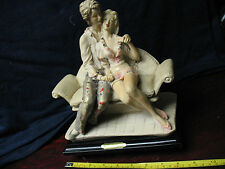 VALENTINO  SERIE  by  MIRIAM  VINTAGE  STATUE  SWEETHEARTS   SEATED ON  SOFA