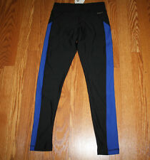 NWT Womens ADIDAS Climawarm Fitted Active Workout Pants BLACK/BLUE Size XL