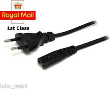 EU European 2 Pin Plug Fig Figure 8 Mains Cable Lead 1.8m Black EU C7 F8 CORD