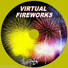 VIRTUAL FIREWORK DISPAY VIDEO & SOUND DVD INC COUNTDOWN FOR FLATSCREEN TV NEW