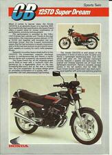 HONDA CB 125TD SUPER DREAM SPORTS TWIN MOTORBIKE SALES 'BROCHURE' SHEET @ 1980