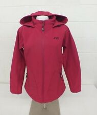 CB Sports Magenta Women's Hooded Soft Shell Jacket Size Large Fast Shipping LOOK