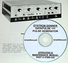 Systron-Donner Datapulse 111, Operating & Service Manual