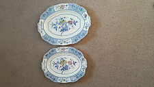 Two Alfred Meakin Meat Plates.Meadow Pattern in the Harmony shape.Delightful