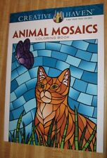 Animals Mosaics Adult Coloring Book Jessica Mazurkiewicz Dover Publishing 2014
