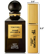 Large DELUXE .24oz Travel Spray Sample Atomizer of Tom Ford OMBRE LEATHER 16 EDP