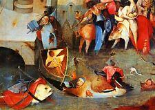 Hieronymus Bosch Garten der Lüste um 1500 Antonius Faksimile 5 auf Büttenpapier