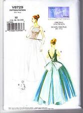 Vogue V8729 14-22 Sewing Pattern Vintage 1956 Wedding Gown Dancing Dress Bridal