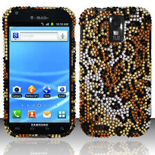 For T-Mobile Samsung Galaxy S II 2 T989 Crystal BLING Hard Case Cover Cheetah