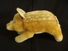 Antique c1920's Steiff Mohair Straw filled Glass eyes Piglet Toy