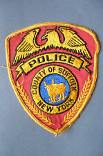 Patch- COUNTY OF SUFFOLK NEW YORK POLICE PATCH~ New*apx.12x10 cm