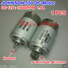 DC12V 16000RPM High Speed Power Torque JOHNSON RS-550 Motor Drill Electric Tools
