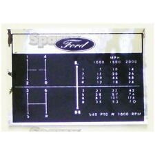 Ford Tractor Shift Pattern Decal 6-Speed 2000 3000 2110 231 2600 335 3400 3600