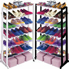 21 Pair Shoe Rack Shelf Organiser 7 Tier Stand Cupboard Shoes Boots Storage
