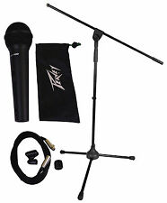 Peavey PVI100XLR Wired Dynamic Cardioid Microphone+Case+Mic Clip+Cable+Mic Stand